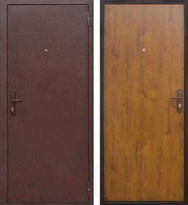 Входная дверь Йошкар Стройгост 5-1 Золотистый дуб (98x206, правая)
