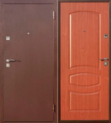 Входная дверь Йошкар Стройгост 5-2 Итальянский орех (98x206, правая)