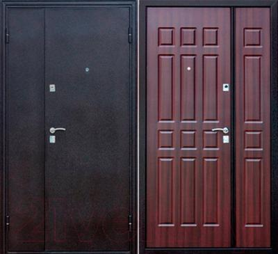 Входная дверь Йошкар Венге двухстворчатая (96x206, правая)