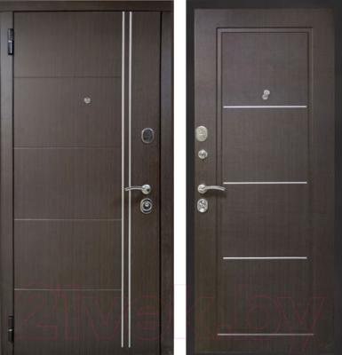 Входная дверь ЮрСталь Манчестер L (96x206)