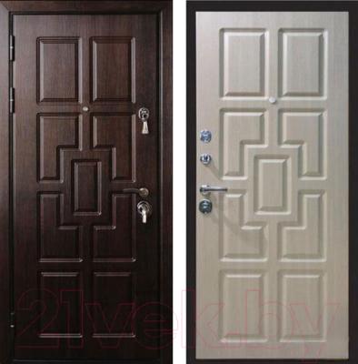 Входная дверь ЮрСталь Квадро L (96x206)