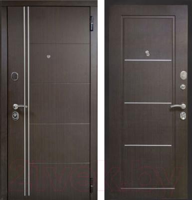 Входная дверь ЮрСталь Манчестер R (96x206)