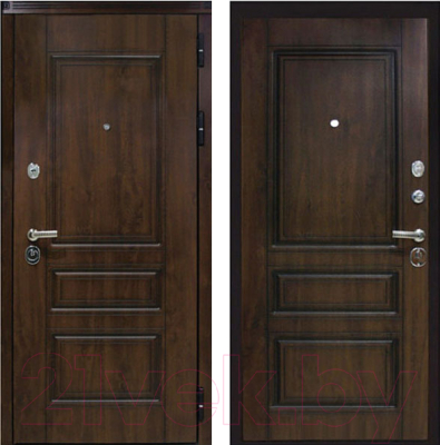 Входная дверь ЮрСталь Лондон R (96x206)