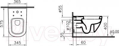 Унитаз подвесной VitrA D-Light 5911B003-6098