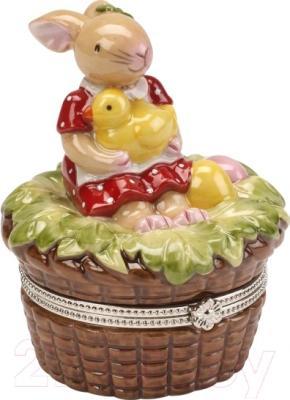 """Шкатулка Villeroy & Boch Spring Decoration """"Зайчик-девочка с утенком"""""""