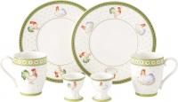 Набор столовой посуды Villeroy & Boch Farmers Spring Завтрак для двоих/Курочка и петушок -