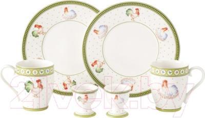 Набор столовой посуды Villeroy & Boch Farmers Spring Завтрак для двоих/Курочка и петушок