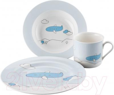 Набор столовой посуды Sambonet Bimbo Blue Plane (3пр)