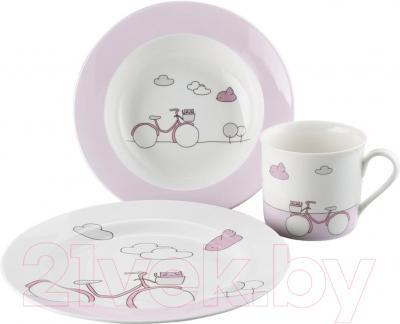 Набор столовой посуды Sambonet Bimbo Pink Bike (3пр)