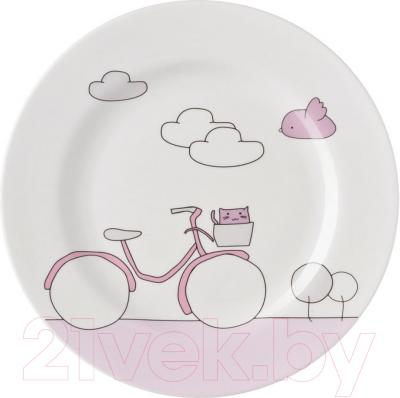 Набор столовой посуды Sambonet Bimbo Pink Bike (7пр)