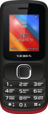 Мобильный телефон TeXet TM-125 (черный/красный)