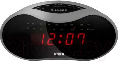 Радиочасы Mystery MCR-33 (серый/красный)