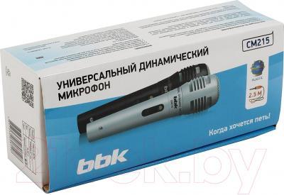 Микрофон BBK CM215 (черный/серебристый)