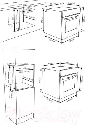 Электрический духовой шкаф Zigmund & Shtain EN 106.511 S