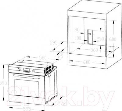 Электрический духовой шкаф Zigmund Shtain EN 142.921 B