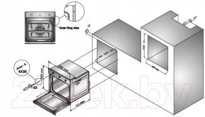 Электрический духовой шкаф Zigmund & Shtain EN 242.622 B