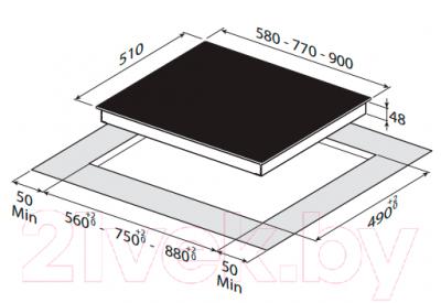Электрическая варочная панель Zigmund & Shtain CNS 269.60 BX