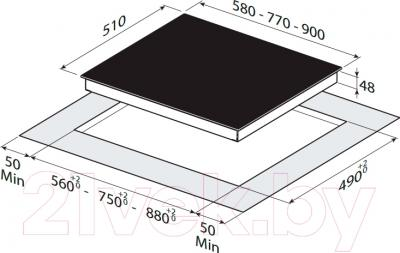 Электрическая варочная панель Zigmund & Shtain CNS 249.60 BX