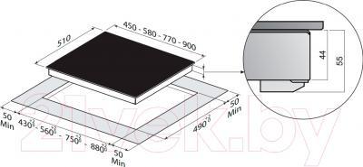 Электрическая варочная панель Zigmund & Shtain CNS 249.60 WX