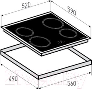 Индукционная варочная панель Zigmund & Shtain CIS 028.60 SX