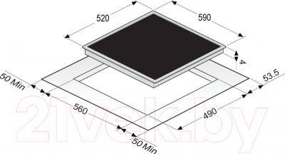 Индукционная варочная панель Zigmund & Shtain CIS 209.60 BK