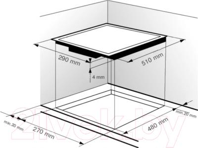 Электрическая варочная панель Zigmund & Shtain CNS 129.30 WX