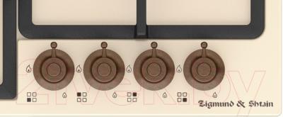 Газовая варочная панель Zigmund & Shtain GN 88.61 X