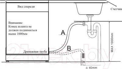 Посудомоечная машина Zigmund & Shtain DW 79.4509 X - схема установки