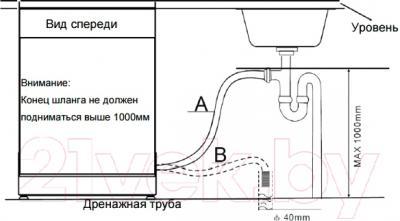 Посудомоечная машина Zigmund & Shtain DW 79.6009 X - схема установки