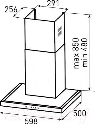 Вытяжка Т-образная Zigmund & Shtain K 201.61 S