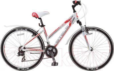 Велосипед Stels Miss 6100 V 2016 (17, белый/серый/красный)