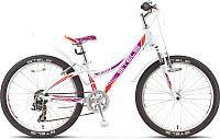 Велосипед Stels Navigator 430 V 2016 (белый/фиолетовый/оранжевый) -