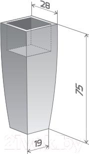 Вазон Pdconcept Juno PL-JU75-PD (коричневый)