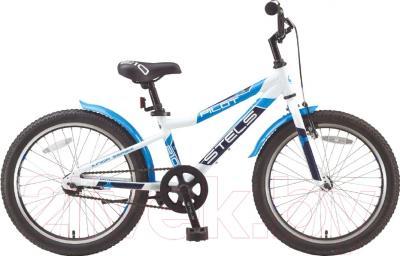 Детский велосипед Stels Pilot 210 Gent 2016 (белый/синий/темно-синий)