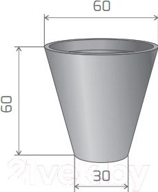Вазон Pdconcept Mercury PL-ME60 (антрацит)