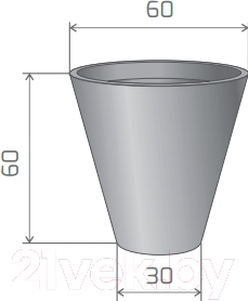 Вазон Pdconcept Mercury PL-ME60 (коричневый)