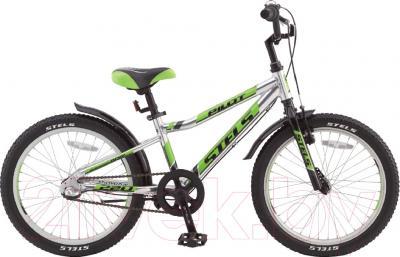 Детский велосипед Stels Pilot 220 Gent 2016 (алюминий/салатовый/черный)