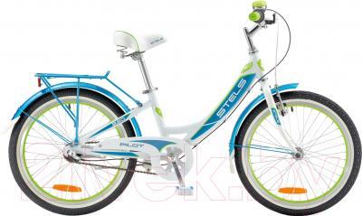 Детский велосипед Stels Pilot 220 Girl 2016 (белый/пурпурный)