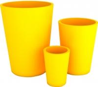 Вазон Pdconcept Uran PL-UR60 (желтый) -