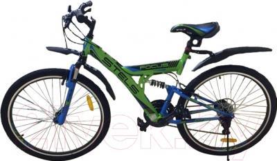 Велосипед Stels Focus V 18 sp 2016 (зеленый/синий/черный)