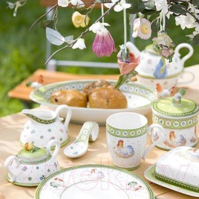 Блюдо для яиц Villeroy & Boch Farmers Spring Курочка - вид коллекции в интерьере