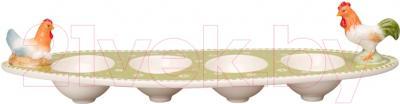 Подставка для яйца Villeroy & Boch Farmers Spring Курочка и Петушок (для 4-х яиц)