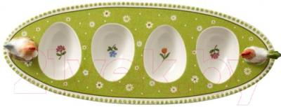 Подставка для яйца Villeroy and Boch Farmers Spring Курочка и Петушок (для 4-х яиц) - вид сверху