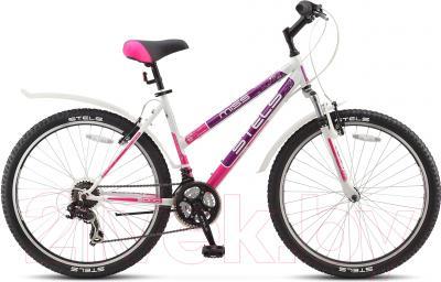 Велосипед Stels Miss 5000 V 2016 (16, белый/фиолетовый/розовый)