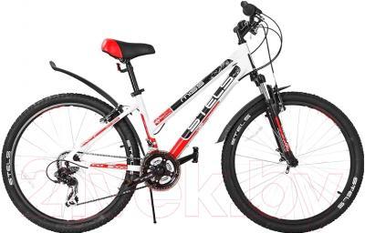 Велосипед Stels Miss 6000 V 2016 (17, белый/черный/красный)