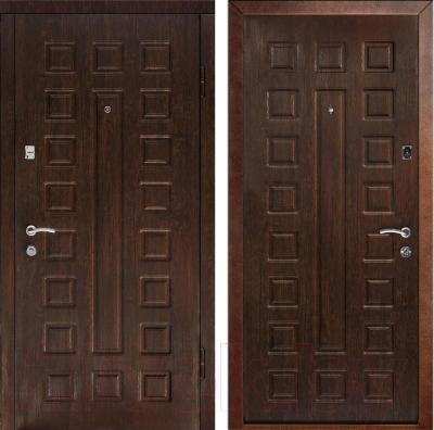 Входная дверь Дверной Континент Люкс (86x205, правая, венге)