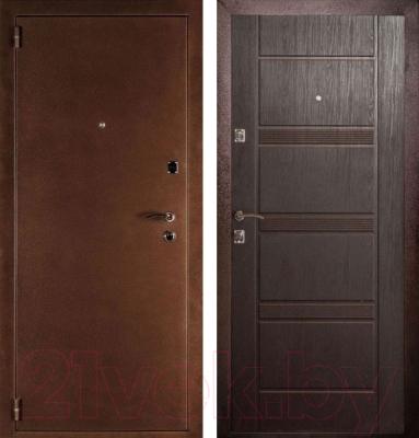 Входная дверь Дверной Континент Дельта венге (88x205, левая)