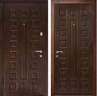 Входная дверь Дверной Континент Люкс (86x205, левая, венге)