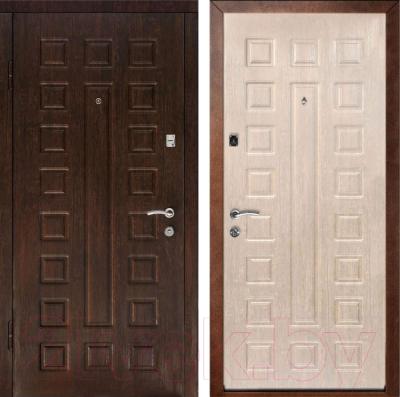 Входная дверь Дверной Континент Люкс (86x205, левая, белый дуб)