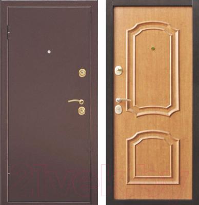 Входная дверь Дверной Континент Интерио (86x205, левая, светлый орех)